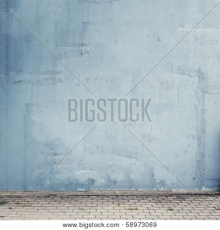 Urban background. Empty street wall texture.