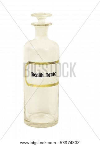 old health tonic apothecary bottle