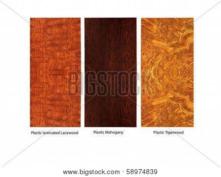 laminated wood samples