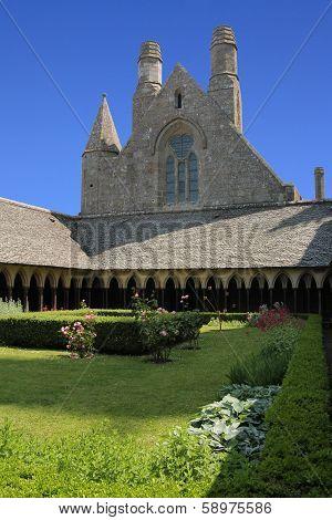 Garden In The Abbey Of Mont Saint Michel