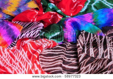 Shibori silk fashion scarves