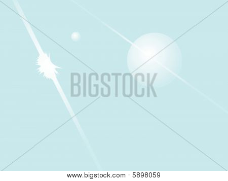 Saturn and Ice Ring Background