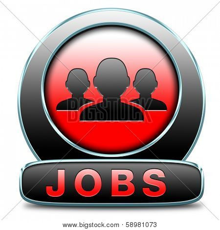 job search vacancy for jobs online job application help wanted hiring now job sign job button job ad advert advertising text and word concept