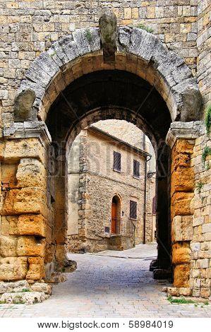 Medieval town gate