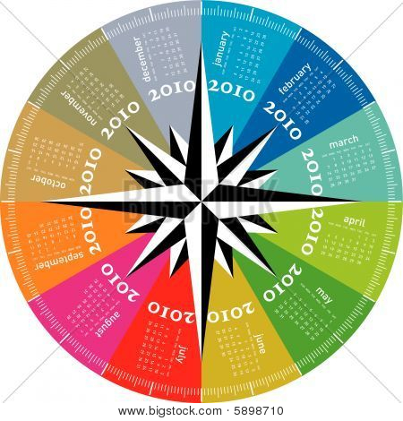 Colorful Calendar for 2010, rotating design