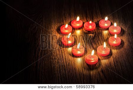 Heart From Candles
