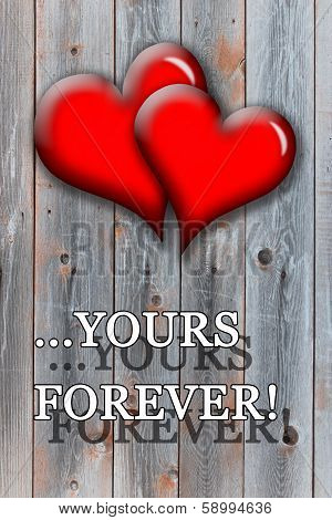 Beloved Hearts With Inspiration Yours Forever