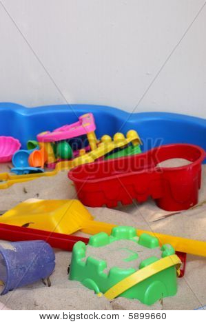 Sandpit With Colorful Toys