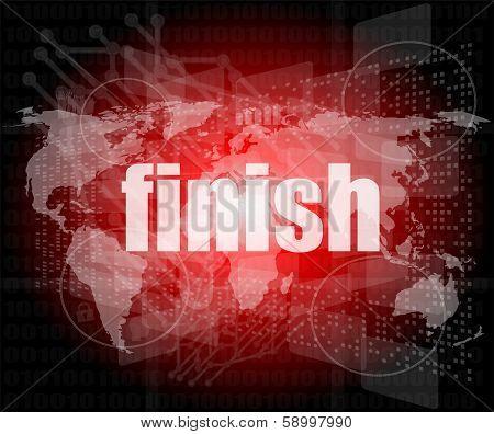 Finish Word On Digital Screen, Mission Control Interface Hi Technology