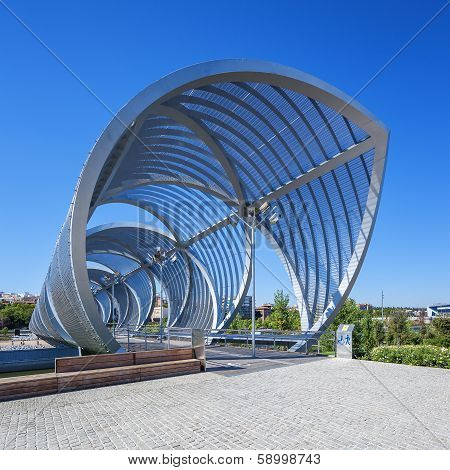 Famous Footbridge In Madrid