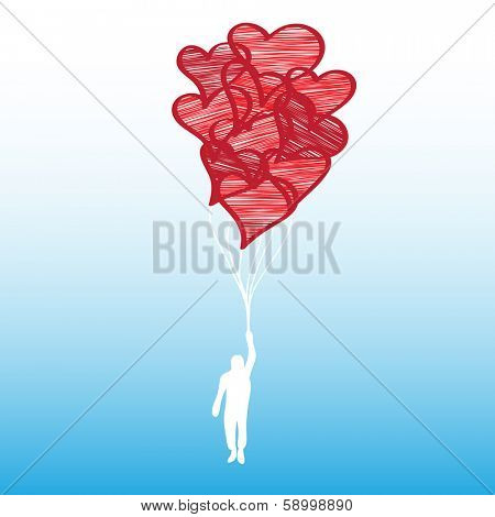 Valentine's Day - Guy with Balloons
