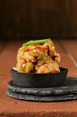 pic of kimchi  - Korean traditional salad cabbage kimchi with hot pepper - JPG
