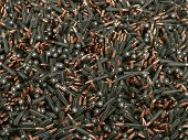 stock photo of projectile  - 3d render of bullets background - JPG