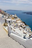 View on Fira in Santorini Greece