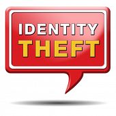 image of theft  - identity theft stop warning sign stealing ID online is an internet or cyber crime - JPG