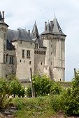 stock photo of anjou  - Castle of Saumur in Loire Valley France - JPG