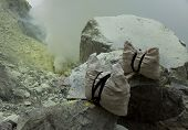 Basket sulfur, volcano in Indonesia