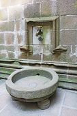 picture of michel  - Large water tap in the monastery Mont Saint Michel Normandy France - JPG
