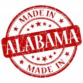 stock photo of alabama  - made in Alabama red round grunge isolated stamp - JPG
