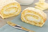 image of pastarelle  - cookie dough stuffed with sweet cream and cover with fine white chocolate - JPG