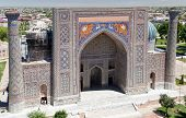 foto of samarqand  - View of Sher Dor Medressa  - JPG
