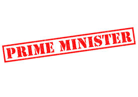 pic of prime-minister  - PRIME MINISTER red Rubber Stamp over a white background - JPG