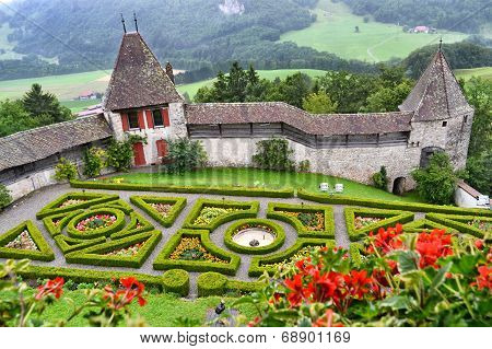 Gardens Gruyeres Castle