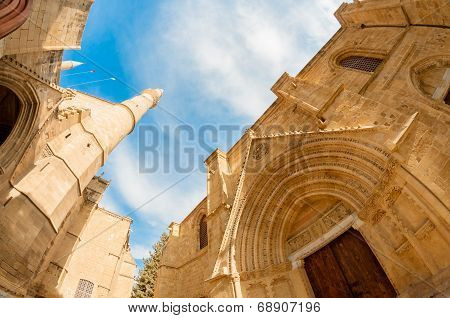 St. Nicholas Cathedral (lala Mustafa Mosque). Famagusta, Cyprus