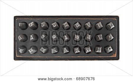 Vintage Metal Stamps Punch Set