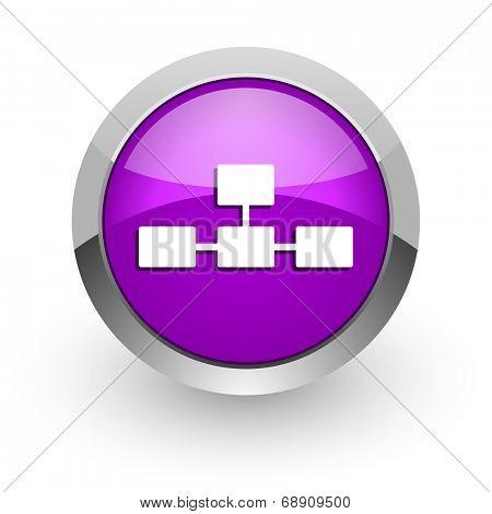 database pink glossy web icon