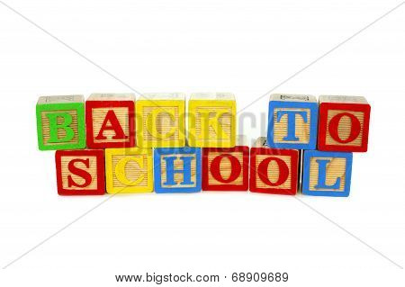 Back to School blocks