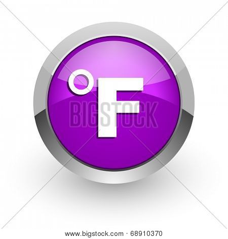 fahrenheit pink glossy web icon