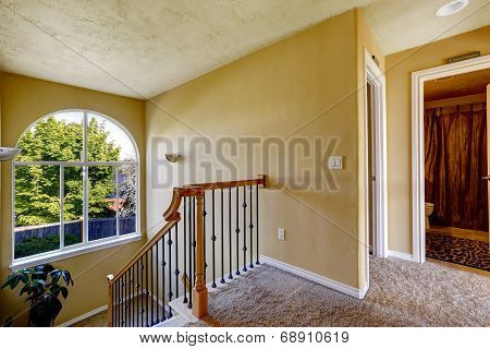 Upstairs Hallway With Staircase