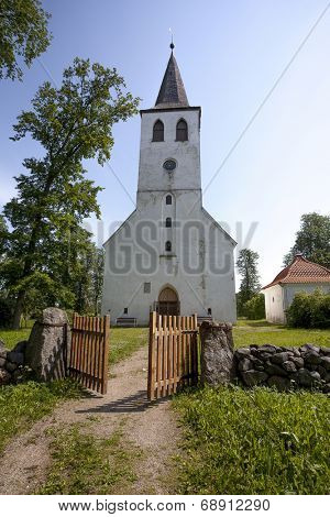 Puhalepa Church is oldest stone church of Hiiumaa island, Estonia