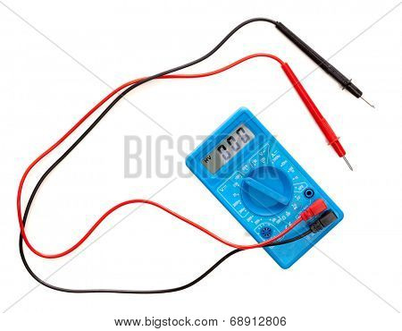Multimeter isolated on white background