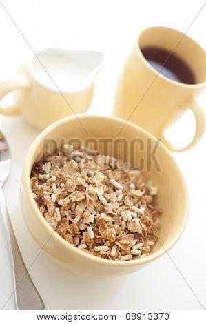 High Key Image Of A Healthy Breakfast