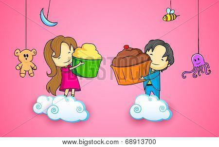 illustration of friends enjoying Happy Friendship Day
