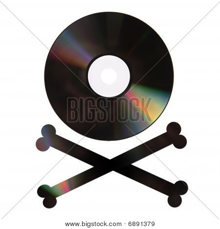 Pirate Dvd On White