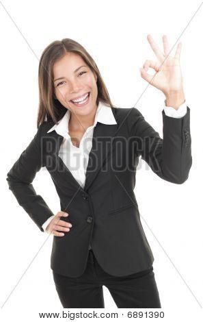 Ok Sign Businesswoman
