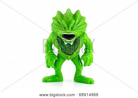Green Goblin Monster From Stretch Screamer Toy.