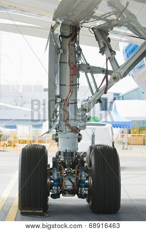 Rear Landing Gear Of Wide-body Airplane