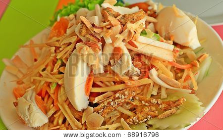 Almond Papaya Salad