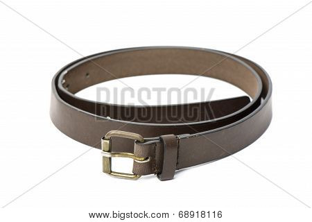 Brown Leater Belt For Men