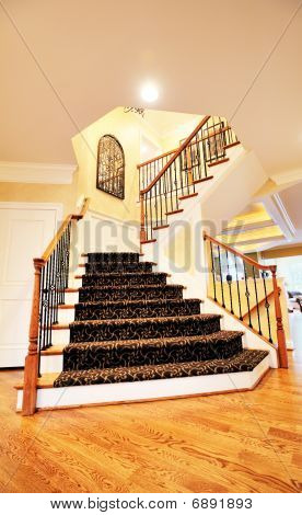 Staircase In Upscale Home
