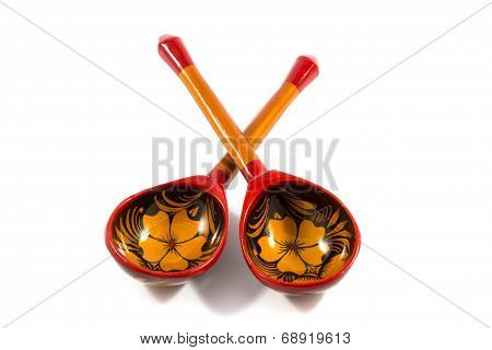 Khokhloma wooden spoon