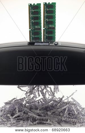 Memory Chip Shredding Binary Data