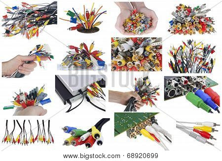Different Connectors, Cables  And Plugs Set