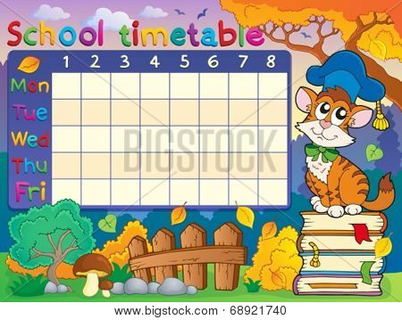 School timetable composition 4 - eps10 vector illustration.