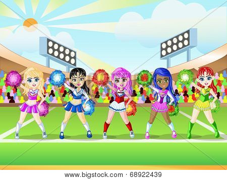 Cheerleader Girls Dress Up 1