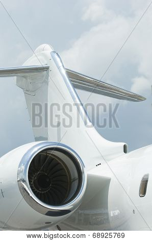 Tail Plane Of Corporate Jet
